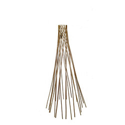 "Master Garden Products - Carbonized Barkless Peeled Willow Round Teepee Trellis, 60""H - Assist your plant with this classic willow teepee flower support. Used by amateur and professional growers alike, this device supports plant stems during growth to help plants reach new heights. The beautiful round teepee design offers flexibility for use with climbing plants or flowers. This lightweight support endures the elements with its strong, durable construction. Comes fully assembled and ready to use. Constructed with carbonized peeled willow sticks, they are light mahogany in color, we offer it in 5 feet high. We recommend putting a coat of linseed oil or outdoor sealer to preserve peeled skin willow product outside."