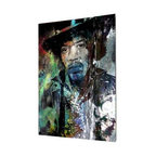 "READY2HANGART.COM - Ready2hangart Alexis Bueno Iconic 'Jimmy Hendrix' Acrylic Wall Art - Artist Alexis Bueno, takes you on a journey with this unique retrospective of the stars that affected Pop Culture through the past centuries with his series Iconic Art . This abstract rendition in acrylic art is offered as part of a limited ""Home Decor"" line, being the perfect addition to any contemporary space."