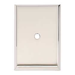 Alno Inc. - Alno Inc. 1 1/4 Inch Rectangle Backplate Polished Nickel - Alno Inc. 1 1/4 Inch Rectangle Backplate Polished Nickel  Made from Solid Brass.