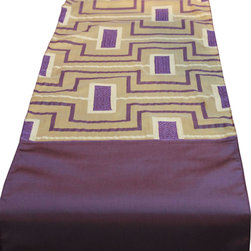 Vintage Maya - Malmo Coffee Table Runner - Scandinavia has the corner on modern design. With sharp corners and a geometric pattern, this table runner will tie together your modern dining table. Pair it with round white dishes for a flashy juxtaposition against the squared edges.