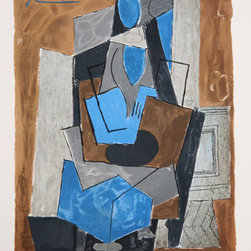 Pablo Picasso Estate Collection Femme Assise Hand Signed with COA - PABLO PICASSO ESTATE COLLECTION