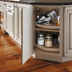 Getting Organized with Fieldstone Cabinetry - Great corner storage option