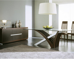 Rossetto - Mirage Dining Set in Wenge - Features: