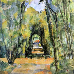 "Paul Cezanne Tree Lined Lane at Chantilly - 16"" x 20"" Premium Archival Print - 16"" x 20"" Paul Cezanne Tree Lined Lane at Chantilly premium archival print reproduced to meet museum quality standards. Our museum quality archival prints are produced using high-precision print technology for a more accurate reproduction printed on high quality, heavyweight matte presentation paper with fade-resistant, archival inks. Our progressive business model allows us to offer works of art to you at the best wholesale pricing, significantly less than art gallery prices, affordable to all. This line of artwork is produced with extra white border space (if you choose to have it framed, for your framer to work with to frame properly or utilize a larger mat and/or frame).  We present a comprehensive collection of exceptional art reproductions byPaul Cezanne."