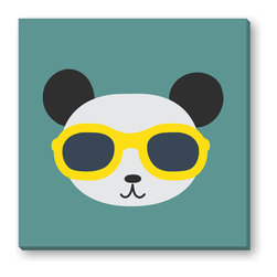 Gallery Direct - Cool Panda Gallery Wrapped Canvas - Sure to make you smile! This print is the perfect way to add character to a child's room. Printed using archival inks on artist grade canvas and wrapped over 1.5 inch stretcher bars, the print will hang 1.5 inches from your wall.