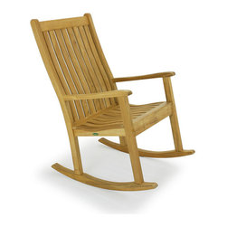 Westminster Teak Furniture - Veranda Teak Rocking Chair - Rock and roll! The Wall Street Journal gave this rocking chair a rating of best overall. And with a lifetime warranty and satisfaction guaranteed, it's easy to see why. A lumbar backrest and scooped seat will cradle you in comfort.