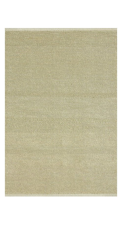 """Loloi Rugs - Loloi Rugs Green Valley Collection - Ivory, 3'-6"""" x 5'-6"""" - Hand woven in India of seagrass and cotton, the Green Valley Collection breathes organic beauty in the floors of any home with these solid and striped designs. And with a raw textural surface, Green Valley adds a distinctly natural vibe to the room."""
