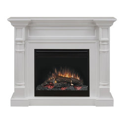 Dimplex - Dimplex Winston Electric Fireplace Multicolor - DFP26-1109W - Shop for Fire Places Wood Stoves and Hardware from Hayneedle.com! The Dimplex Winston Electric Fireplace is an elegant home furnishing with a clean white finish enhanced by fluted pilasters and carved details. It's also a highly efficient heater that can warm any room measuring up to 400 square feet on pennies a day and the ambient light produced by its LED logs and realistic flame technology is second to none! The RV compatible Dimplex Winston Electric Fireplace measures 52W x 13.77D x 42H inches and includes a remote control.About DimplexDimplex North America Limited is the world leader in electric heating offering a wide range of residential commercial and industrial products. The company's commitment to innovation has fostered outstanding product development and design excellence. Recent innovations include the patented electric flame technology - the company made history in the fireplace industry when it developed and produced the first electric fireplace with a truly realistic wood burning flame effect in 1995. The company has since been granted 87 patents covering various areas of electric flame technology and 37 more are pending. Dimplex is a green choice because its products do not produce carbon monoxide or emissions.