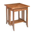 Renovators Supply - End Tables Dark Oak Mission End Table 24 1/2'' H - Mission End Table. You'll enjoy our mission styling, with its hand rubbed dark oak stain finish that brings out the beauty of the oak grain. Measures 24 1/2 in. high x 24 in. wide x 24 in. deep. Comes pre-assembled.