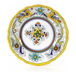 Artistica - Hand Made in Italy - Raffaellesco: Salad Plate - Raffaellesco Collection: Among the most popular and enduring Italian majolica patterns, the classic Raffaellesco traces its origin to 16th century, and the graceful arabesques of Raphael's famous frescoes.