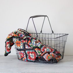 Farmer's Market Basket by Hruskaa - Go retro when you go to the market with this wire basket.