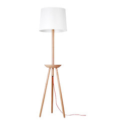ParrotUncle - Tripod with Platform Wood Base Floor Lamp - Floor lamp is the best light for reading aside sofa. The soft light will lighten your living room and help you reading as well. Besides, this Nordic style floor lamp has a small platform at the middle of base, which allows you to put books or glasses there. Love home, love to decorate with wood lamps.