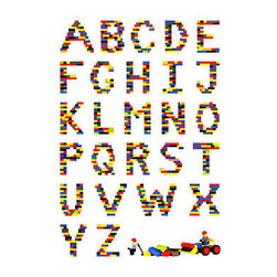 """""""Alphabet in Lego"""" Photographic Prints by Addison - Teach your child the ABCs of Legos with this unique block-inspired photo print."""