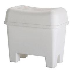 BURSJÖN Stool with storage - Stool with storage, white