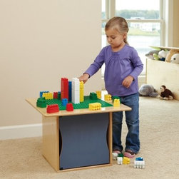 RooMeez Lego Table - Solid Color Door - You child will love playing with the RooBeez Lego Table - Solid Door Color while you'll love how easy it makes keeping a room clean and organized. With the single pod crafted from wood in a natural finish and the topper play kit crafted from durable plastic this play table is made to last. The solid door can be hinged on the left or right and comes in your choice of color. The pod is perfect for storing blocks or other items. Designed to make storage simple and stylish this RooMeez Lego Table is a great choice for any item. About Jonti-CraftFamily-owned and operated out of Wabasso Minn. Jonti-Craft is a leading provider of quality furniture for the early learning market. They offer a wide selection of creatively designed products in both wood and laminate materials. Their products are packed with features that make them safe functional and affordable. Jonti-Craft products are built using the strongest construction techniques available to ensure that your furniture purchase will last a lifetime.