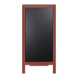 """Enchante Accessories Inc - Large Wood Wall Leaning Chalkboard / Black Board Sign 18"""" x 40"""" (Red) - This message board features a  wooden framed chalkboard."""