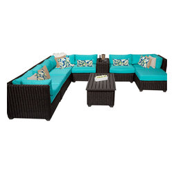 TKC - Rustico 10 Piece Outdoor Wicker Patio Furniture Set 10b 2 for 1 Cover Set - Features:
