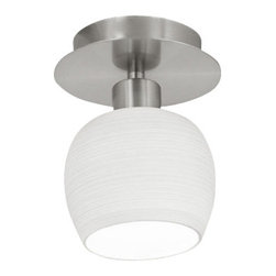 Eglo - Eglo 90115A Bantry Single Light Recessed Down Lighting Ceiling Lamp - Single Light Down Lighting Ceiling Lamp from the Bantry CollectionSuperior recessed mounted, semi-flush ceiling light made with various high quality glass materials for durablity and a beautiful finish.