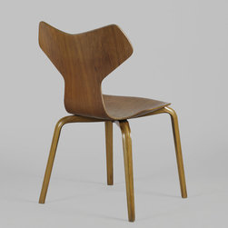 Grand Prix Dining Chairs by Arne Jacobsen (set of 4) - Midcentury Danish Modern 1950s Arne Jacobsen Chair 3130, AKA, The Grand Prix Chair.