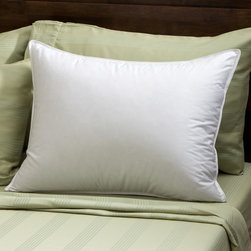 None - Soft Density 400 Thread Count Goose Down Pillow - Get a good night's sleep with this 400 thread count goose down pillow. While it is made specifically for stomach sleepers,this pillow will work for any type of sleeper.