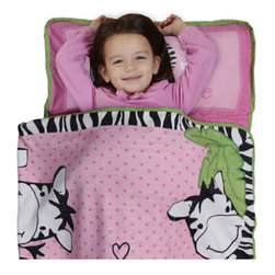 Betesh Group - Zebra Print Safari Pink Toddler Nap Mat Sleeping Roll - Features: