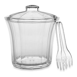 CreativeWare 4-Quart Acrylic Ice Bucket With Tongs - Acrylic is stronger than glass and safe to use outdoors, so you won't have to worry about it breaking. Fill this with ice for your next al fresco party.