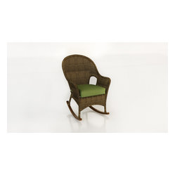 Rockport Outdoor Wicker High Back Rocker, Brown