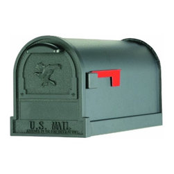 SOLAR GROUP - Mailbox Arlington L Rural Black - Heavy gauge steel body with aluminum trim, flag and bracket.