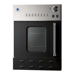 "24"" BlueStar Single Gas Wall Oven- Maximizing Space - Jet Black (RAL 9005)"