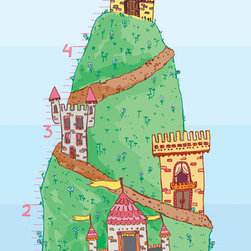 Murals Your Way - Castle - Growth Chart Wall Art - Painted by Cindy Ann Ganaden, Castle - Growth Chart wall mural from Murals Your Way will add a distinctive touch to any room