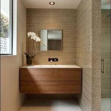 Modern Bathroom Countertops by lew sabo