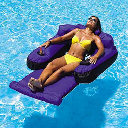 Swimline - Swimline Ultimate Floating Lounger Multicolor - 9047 - Shop for Cabinets from Hayneedle.com! The ultimate in summer relaxation can be found here in this Swimline Ultimate Floating Lounger. The pool float is made of durable nylon and features a large arm and a headrest for maximum comfort. Comes with holders for your favorite beverage and has a weight capacity of 200 pounds.About SwimlineFamily owned and operated since 1971 Swimline has grown to be the largest manufacturer of above-ground swimming pool liners in the world. They're also the largest importer of in-ground and above-ground swimming pool covers and related accessories. Swimline founded International Leisure Products in 1990 branching out to pool toys games and accessories. They grew once again in 1994 when Leisure Products acquired United Leisure Industries Hydrotools Inc. an manufacturer of pool accessories like leaf skimmers brushes and vac heads.