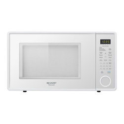 "Sharp - 1.3 Cu Ft Microwave w/12.75"" turntable; smooth white - R409 series family-size 1.3 cu. ft. microwave oven in smooth white