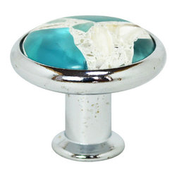 """Pierre Habitat - Designer Cabinet Knobs - Make all your home cabinetry """"pop"""" with these stylish Designer Cabinet knobs from Pierre Habitat. Made with recycled glass that is totally green and sustainable. These pulls not only look good, they are good - for both you and the planet.  Planet-Friendly Hardware designed for you by Pierre Habitat. Sold Single."""