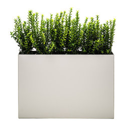 "Modern Planter - Modern Trough Planter - Dove, Low - Green space is what you make of it. This creative planter gives you the wherewithal to plant, move and completely re-envision living and working spaces. Think of it as a different sort of ""green house effect"" that allows you to create your own personal paradise."