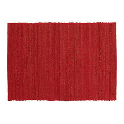 Fire Placemat - Add vibrant color to your table with these hand-crafted placemats. Fun, zesty, and full of life - red is the new black. Artisans weave hand-twisted banana fiber on hand looms and bind them with cotton yarn to produce our completely natural table decor. Banana fiber is an agricultural by-product extracted from banana plants post harvest. A perfect choice for the holiday season, these versatile placemats work equally well for every day.       Sold individually. Coordinates with our Fire table runner. Also available in five other colors: Earth, Forest, Ocean, Sand and Storm.    Wipe clean with a damp cloth.