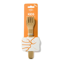 Bambu - Bambu Kid's Utensil Fork & Spoon Set - A match made in heaven; this kid's sized fork and spoon set gives your child the basics. With specially sized handles for small hands, these bamboo utensils are perfect for children. Bamboo is naturally antibacterial, stain resistant, and also ecofriendly, teaching your child to value the environment as you do.