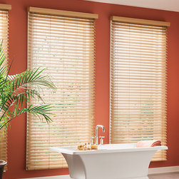 Bali - Bali 2-inch Faux Wood Blinds - The realistic look of stained wood blinds combines with the durability of faux wood blinds in Bali Premium Faux wood blinds.