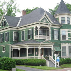 Victorian House Colors With Dark Green Wall