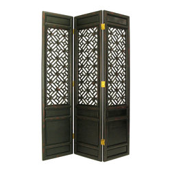 Wayborn - Wayborn Suchow Window Room Divider in Antique Black - Wayborn - Room Dividers - 2329 -