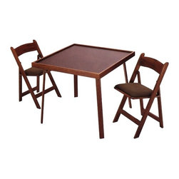 """Kestell Furniture - 35"""" Oak Folding Domino & Game Table - If you need great game table at a great price then you have found what you have been searching for! This table is perfect for rainy day activities like cards, dominos, board games and jigsaw puzzles. It has a 35"""" square top and features a mar-resistant black melamine laminate top. The 35"""" Oak Folding Domino & Game Table is created from the finest Wisconsin Oak and even has folding legs that make storage and transport easier than ever! Also available is a sharp set of matching Kestell Game Chairs! Whats more, you can even personalize this table for your home by picking finishes that blend with your home decor style. Game Table Features: -Made from the finest Wisconsin Oak. -Available in 6 finishes. -Black melamine laminate tabletop surface. -Foldable table for easy storage. -Table top is square. -Overall Dimensions: 29.5"""" H x 35"""" W. Game Chair Features: -Made from the finest Wisconsin Oak. -Available in 6 finishes. -Chairs upholstered in felt or vinyl. -Upholstery available in 22 colors. -Available with 3 different seat thicknesses. -Folds for easy storage. -Folded Length: 35.5"""". -Width:17.25""""."""