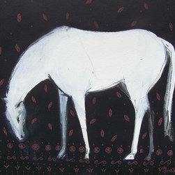 Horse Textile (Original) by Heidi Lb Studio - This piece was created for a show titled the 'Fabric of the Horse'.