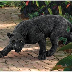 Design Toscano Shadowed Predator Black Panther Garden Statue - Visitors to your garden are in for a wild surprise when the Shadowed Predator Black Panther Garden Statue greets them along the path. This detailed sculpture has a hand-painted finish and is made of high-quality resin materials. Its the perfect way to add an exotic touch to any outdoor setting.About Design Toscano: Design Toscano is the country's premier source for statues and other historical and antique replicas, which are available through our catalog and website.We were named in Inc. magazine's list of the 500 fastest growing privately-held companies for three consecutive years - an honor unprecedented among catalogers.Our founders, Michael and Marilyn Stopka, created Design Toscano in 1990. While on a trip to Paris, the Stopkas first saw the marvelous carvings of gargoyles and water spouts at the Notre Dame Cathedral. Inspired by the beauty and mystery of these pieces, they decided to introduce the world of medieval gargoyles to America in 1993. On a later trip to Albi, France, the Stopkas had the pleasure of being exposed to the world of Jacquard tapestries that they added quickly to the growing catalog. Since then, our product line has grown to include Egyptian, Medieval and other period pieces that are now among the current favorites of Design Toscano customers, along with an extensive collection of garden fountains, statuary, authentic canvas replicas of oil painting masterpieces, and other antique art reproductions.At Design Toscano, we pride ourselves on attention to detail by traveling directly to the source for all historical replicas. Over 90% of our catalog offerings are exclusive to the Design Toscano brand, allowing us to present unusual decorative items unavailable elsewhere. Our attention to detail extends throughout the company, especially in the areas of customer service and shipping.