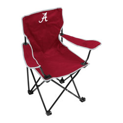 Logo Chair - Logo Chair Youth Camping Chair - 102-22 - Shop for Chairs and Sofas from Hayneedle.com! Built for young sports fanatics the Logo Chair Youth Camping Chair comes in your choice of colors and logos for you to cheer on your favorite team. Great for outdoor sporting events tailgating camping or anywhere you might need to take a seat. The sturdy black metal frame and polyester fabric are designed to support youths up to 115 pounds.About Logo ChairFounded in 2001 by Bill McCauley and family Logo Chair Co. was one of the first companies in the U.S. to hold a Collegiate Licensing Company license for a folding chair. The company began by shipping college chairs from the McCauley's garage just outside of Memphis Tenn. In less than a year Logo moved into their first warehouse and expanded their products to include stadium seats personal bags tents blankets games and more. In addition to the NCAA license they acquired the MLB license for roughly half of their product line in 2005. For the past five years Logo has been a top 10 non-apparel licensee for CLC and currently ranks No. 3. Now based in Franklin Tenn. Logo continues to be an industry leader for new and unique tailgating and team spirit products.