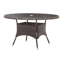 Zuo Modern - Zuo Modern South Bay Outdoor Dining Table X-030307 - Enjoy a refreshing cocktail in the shade with the South Bay Table Set. Frame is constructed from aluminum and the weave is UV resistant polypropylene. The umbrella is UV and water resistant fabric.