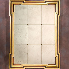 Antique Mirror and Framed Antiqued Mirror