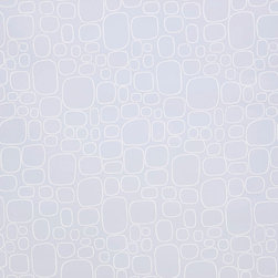 Kimberly Lewis Home - Pebble Wallpaper Sheet, Dusk - A rock solid choice, this wallpaper will add just the right modern pattern and subtle color to the backs of bookshelves or covering smooth cabinet doors. It's screen-printed by hand using environmentally friendly inks and paper, and each sheet measures 27 by 36 inches.