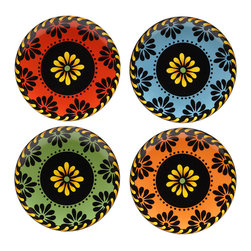 Certified International - Certified International Mi Casa Dessert Plates (Set of 4) - Certified International is a leading manufacturer of ceramic tablewares. These hand-painted dessert plates are attractive, functional and value priced allowing you to create a stylish tablesetting with coordinating kitchen accessories.