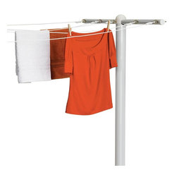 Honey Can Do - Honey Can Do DRY-01452 5 Line Inground T-Post Dryer Multicolor - DRY-01452 - Shop for Drying Racks from Hayneedle.com! Not only will you love the smell of clothes dried outdoors but the Honey Can Do DRY-01452 5 Line Inground T-Post Dryer is also environmentally friendly budget conscience and helps to conserve energy. Constructed from steel for durability this dryer has a limited lifetime warranty and measures 45L x 3W x 72H inches open.