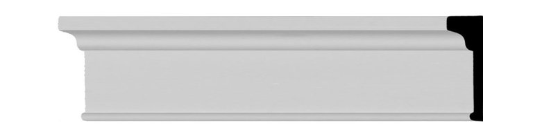 """Ekena Millwork - 6 1/8""""H x 2""""P x 94 1/2""""L Panel Moulding - 6 1/8""""H x 2""""P x 94 1/2""""L Panel Moulding. Our beautiful panel moulding and corners add a decorative, historic, feel to walls, ceilings, and furniture pieces. They are made from a high density urethane which gives each piece the unique details that mimic that of traditional plaster and wood designs, but at a fraction of the weight. This means a simple and easy installation for you. The best part is you can make your own shapes and sizes by simply cutting the moulding piece down to size, and then butting them up to the decorative corners. These are also commonly used for an inexpensive wainscot look."""